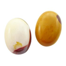 Moukaite / cabochon / oval / 18x25mm / white-cream-light olive / 1pcs