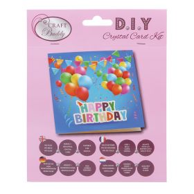 Beads Direct 'Happy Birthday' Crystal Card Kit