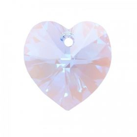 6228 Swarovski Crystal Heart Pendant 18mm Light Sapphire Shimmer Pack of 1