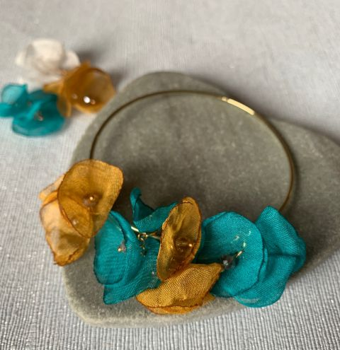 HOW TO MAKE A CHIFFON FLOWER BANGLE - A SIMPLE DIY TUTORIAL FOR BEGINNERS