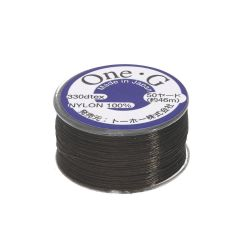 TOHO One-G ™ / nylon thread for beads / Brown / thickness 0.35mm / 46m