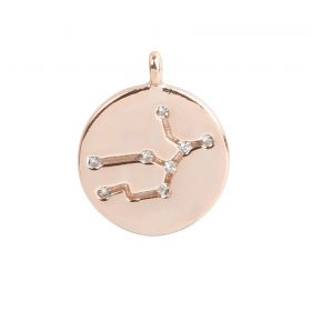 Rose Gold Plated Virgo Constellation Zodiac Charm 11mm Pk1