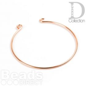 Rose Gold Plated Brass Bangle Base With Hook and Eye 55mm Pk1