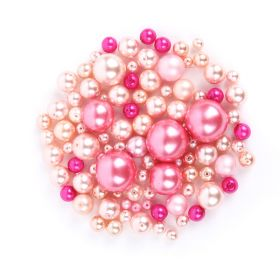 Preciosa Czech Glass Round Pearl Mix Pink 50g