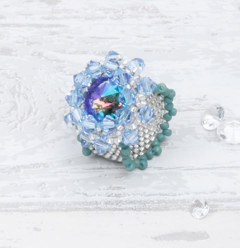 Summer Sea Peyote Ring