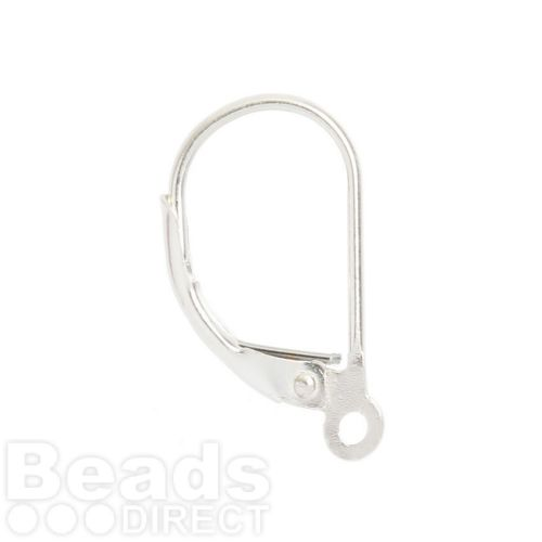 Sterling Silver 925 Lever Back Earwires 17mm 1xPair