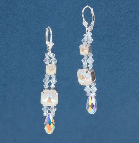 Drop Earrings made with Swarovski