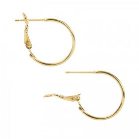 Gold Plated Earring Hoop Bases 20mm x1 Pair