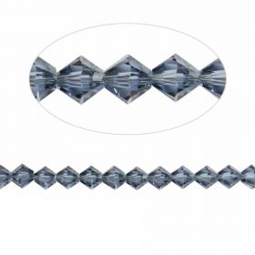 5328 Swarovski Crystal Bicones Xillion 4mm Denim Blue Pk24