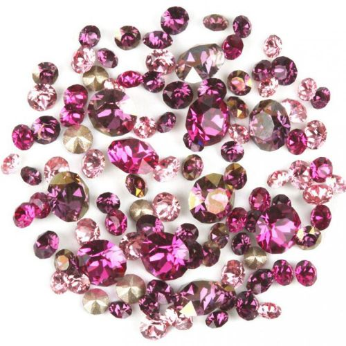 1088 Swarovski Crystal Chaton Pink Mix Assorted Sizes 2g