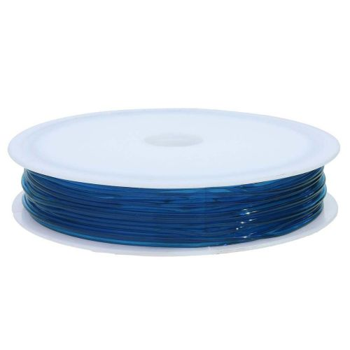Silicone rubber / spool / 0.8mm / deep blue / 8m