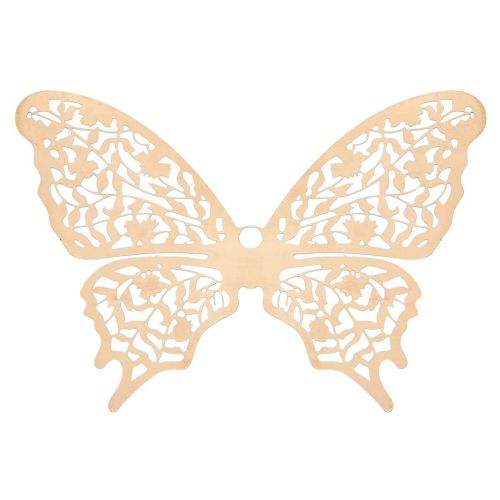 Butterfly / filigree pendant / surgical steel / 64x88mm / dark gold plated / 1pcs