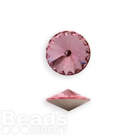 1122 Swarovski Crystal Rivoli SS39 8mm Light Rose F Pk2