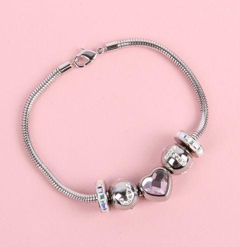 'Lovingly' BeCharmed Crystal Bracelet