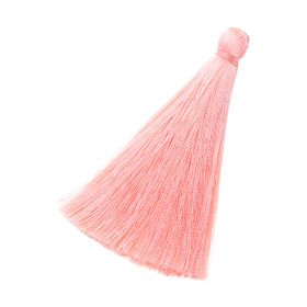 Tassel / viscose thread / 70mm / width 10mm / salmon / 1pcs