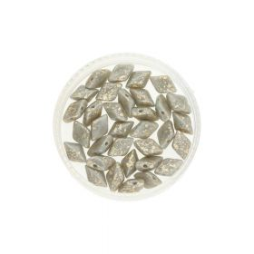 GEMDUO™ / 8x5mm / Gold Splash / Ashen grey / 5g / ~35pcs