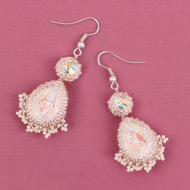 Pretty Pink Peyote Earrings