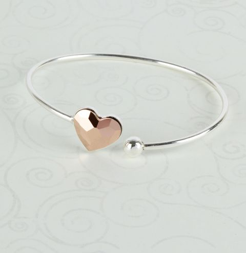 Rose Love Sterling Silver Bangle