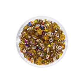 SuperDuo ™ / glass beads / 2.5x5mm / Sliperit / Jonquil / 10g / ~140pcs