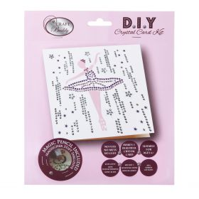 Craft Buddy Ballerina Crystal Card Kit