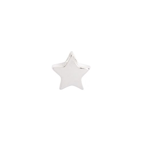 X Sterling Silver 925 Small Star Beads 7mm Top Drilled Pk2