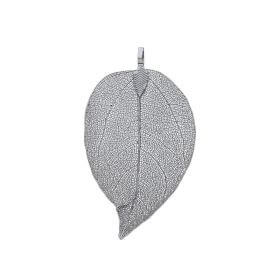 Openwork leaf / copper / pendant / 65x32x4mm / black / 1pcs