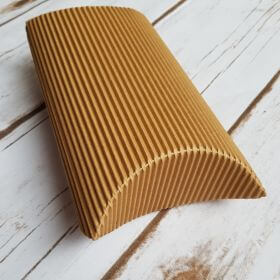 Large Natural Brown / Pillow Gift Box / Corrugated / 18.5x9.5x5cm / 1pcs
