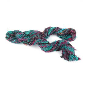 Recycled Silk Yarn Bundle Assorted Colours Approx. 100g
