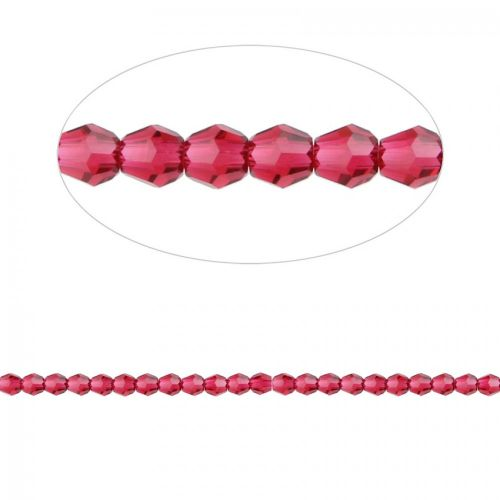 5000 Swarovski Crystal Faceted Round Beads 3mm Scarlet Pk12