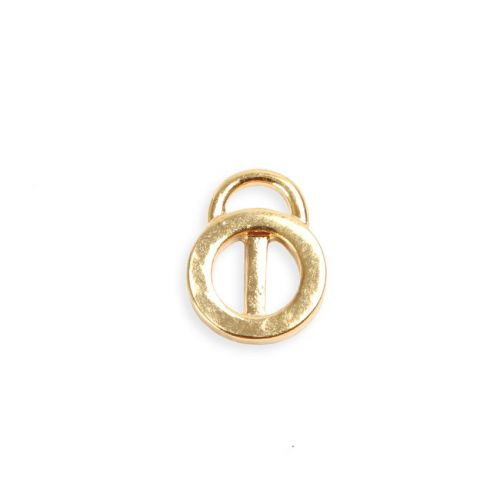 X-Gold Plated Charm Carrier/Slider 9.8x13mm Pk2