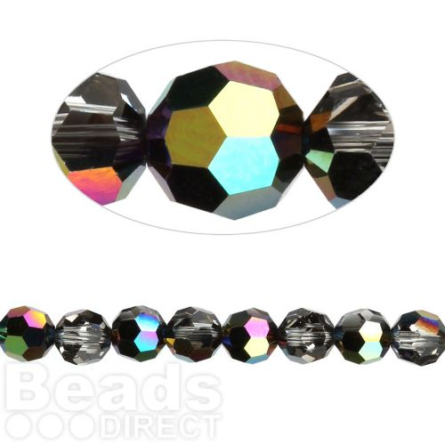 5000 Swarovski Crystal Faceted Rounds 6mm Crystal Scarabaeus Green Pk12