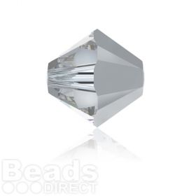 5328 Swarovski Crystal Bicones 6mm Crystal Comet Argent Light Pk360