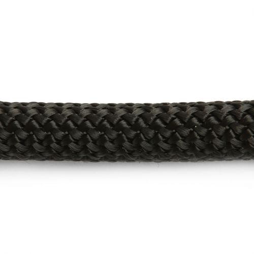 Black Round Knitted Super Strong Woven Cord 10mm Pre Cut 40cm