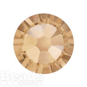 2088 Swarovski Crystal Flat Backs Non HF 7mm SS34 Crystal Golden Shadow F Pk144