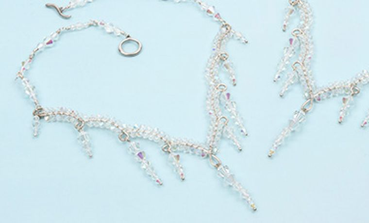 Crystal Shine Necklace by Lynda Pearce