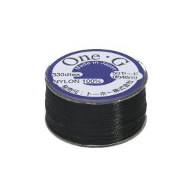 One-G ™ / nylon thread for beads / Black / 0.2mm thick / 46m