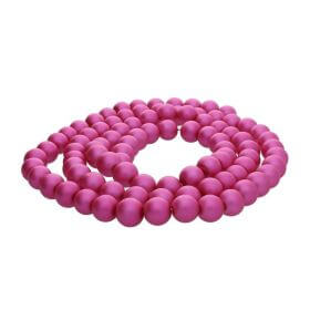 SeaStar™ satin / round / 6mm / neon pink / 150pcs
