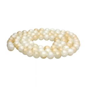 Mistic™ / round / 8mm / white-beige / 100pcs