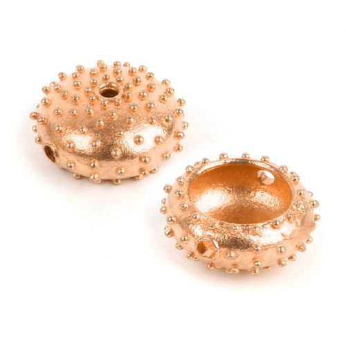 Rose Gold Plated Large Sea Urchin Bead 7x17mm Pk1