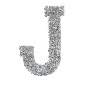 Swarovski Crystal Letter 'J' Self-Adhesive Fabric-It Transparent CAL Pk1