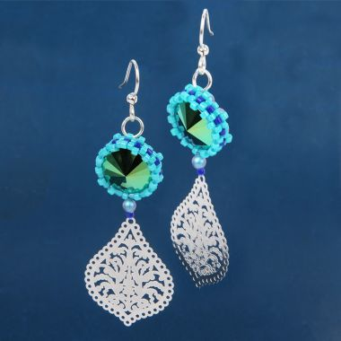 Turquoise Peyote Earrings