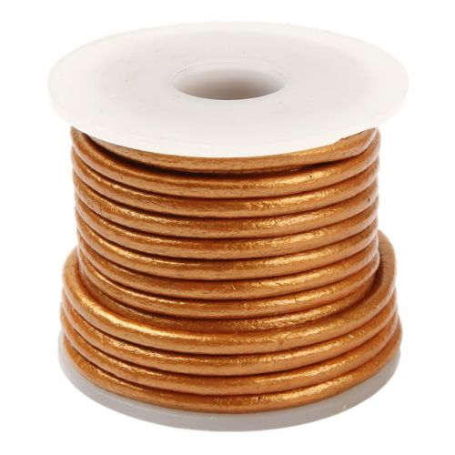 Bronze Round Leather 3mm Cord 5 Metres