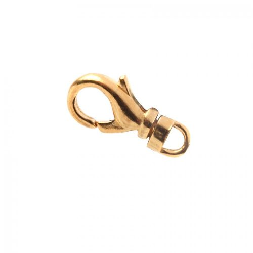 X Gold Plated Swivel Lobster Clasp 12x5mm Pack of 1