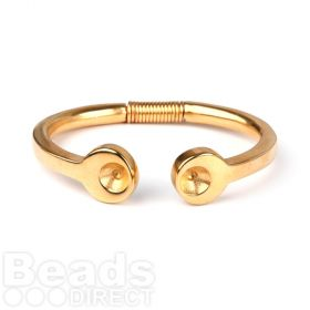 Gold Plated Zamak Coil Bangle Holds SS39 Chaton 65mm Pk1