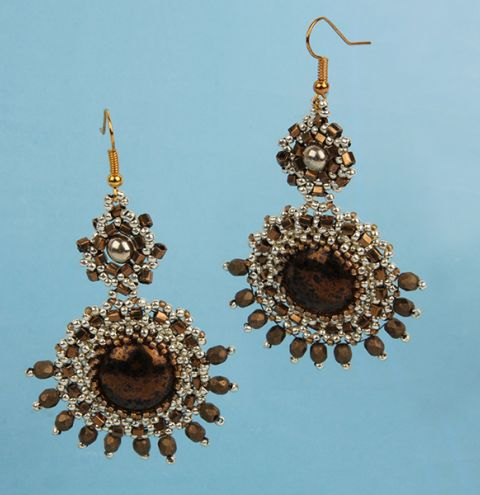 Gold and Bronze Earrings