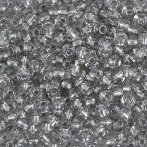 Preciosa Size 6 Round Seeds Aluminium Lined Clear 50g