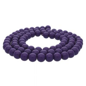 Milly™ / satin round / 10mm / violet / 80pcs
