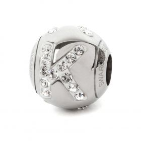 82201 Swarovski Crystal BeCharmed Letter 'K' Bead 12mm Pk1