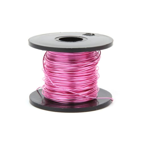 Pink Coloured Copper Craft Wire 0.5mm 25metre Reel
