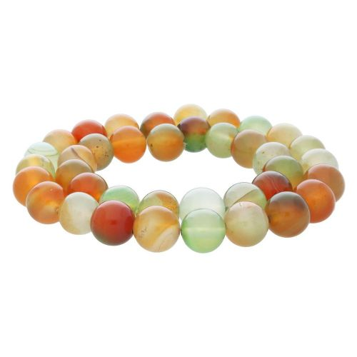Tropical agate / round / 10mm / multicoloured / 36pcs